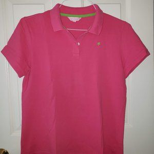 Lilly Pulitzer Pink Polo Shirt - Size XL